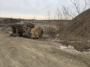 Miner seriously injured after articulated haul truck overturned