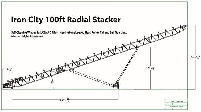 Iron City Supply 48 x 100 Radial Stacking Conveyor Wiring Diagram on