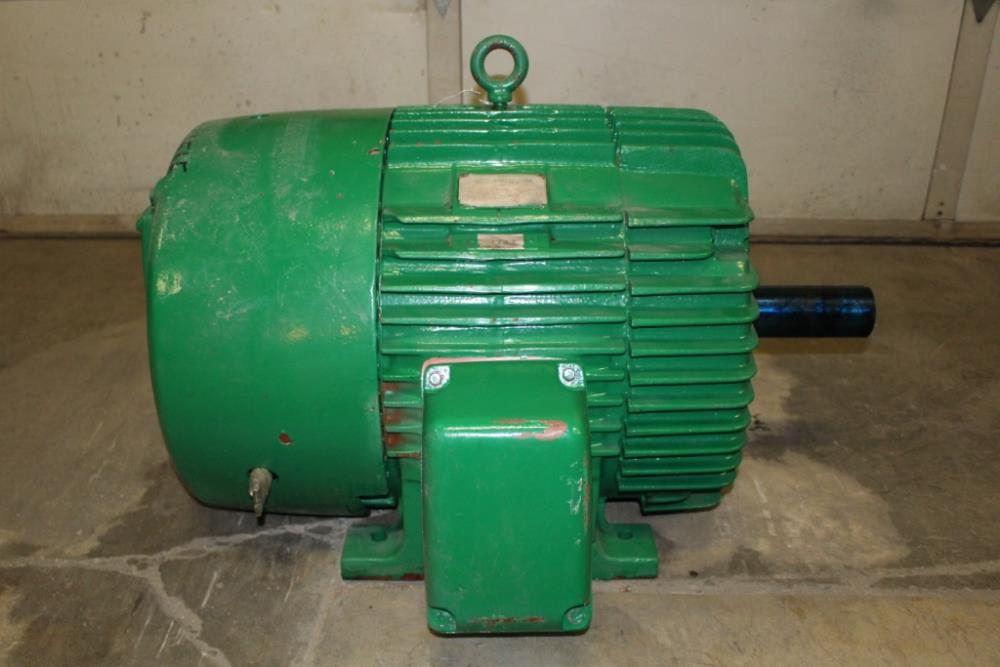 60 Hp General Electric Tri Clad Motor 1180 Rpm 404t Frame