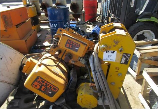 Kito 5 Ton Beam Crawl Chain Hoist (Used) for Sale in South Africa