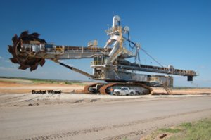 DEMAG HD800 Crawler Bucket Wheel Excavator and Components